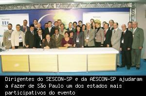 Delegação Do Sescon/SP E Da Aescon/SP No 18° Congresso