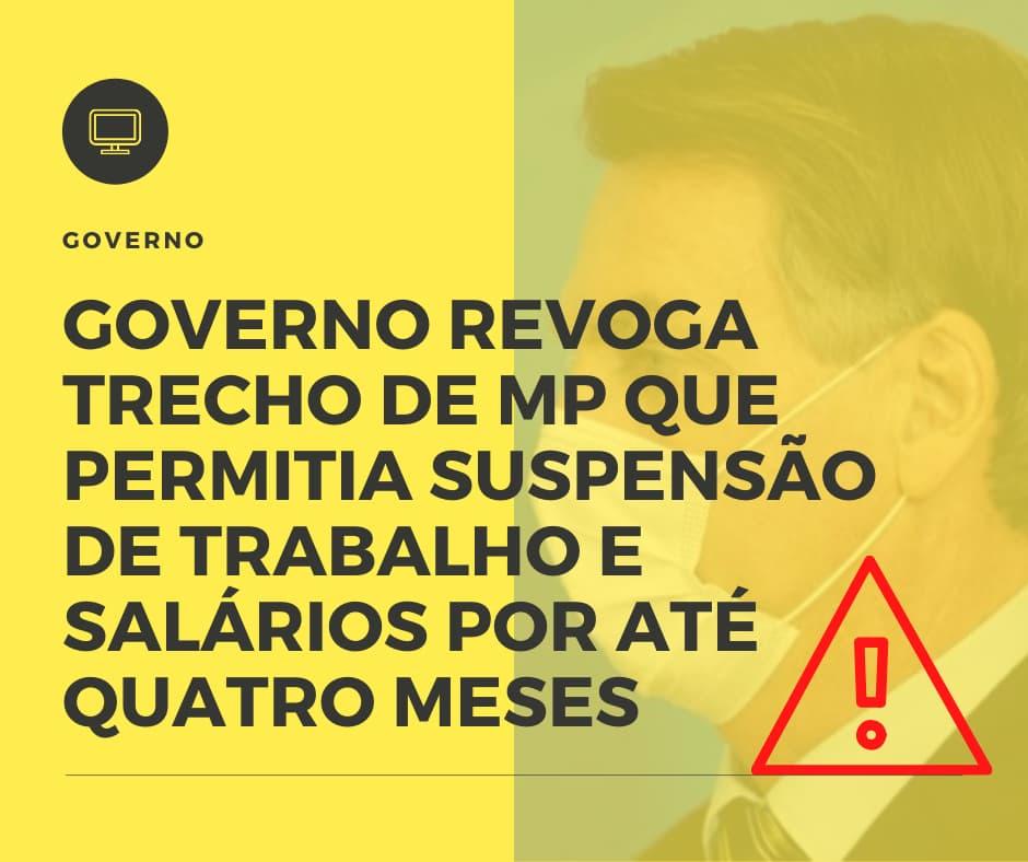 Governo Revoga Trecho De Mp Que Permitia Suspensão De Trabalho E Salários Por Até Quatro Meses - Organização Contábil Lawini