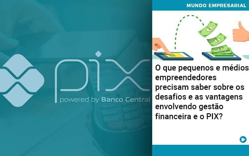 O Que Pequenos E Médios Empreendedores Precisam Saber Sobre Os Desafios E As Vantagens Envolvendo Gestão Financeira E O PIX?