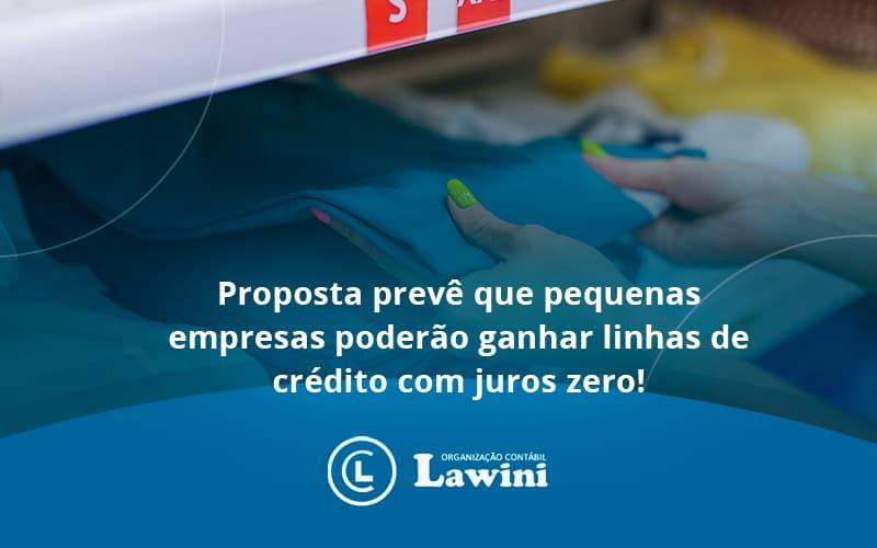 Proposta Prevê Que Pequenas Empresas Poderão Ganhar Linhas De Crédito Com Juros Zero Lawini Contabilidade - Organização Contábil Lawini
